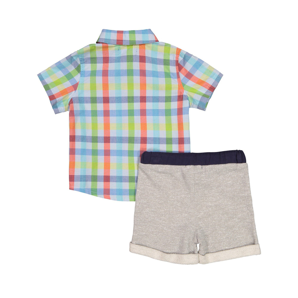 Buttondown & Blue T-Shirt Set - Andy & Evan