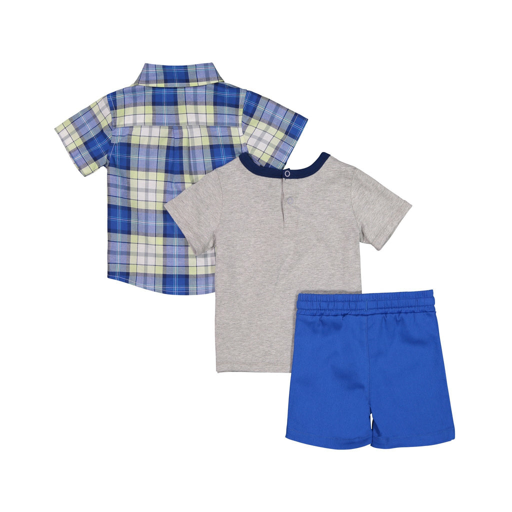 Buttondown & Grey T-Shirt Set - Andy & Evan