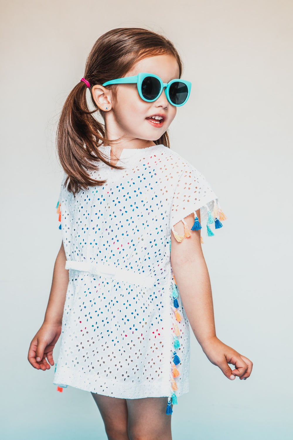 Infant Girls White Eyelet Cover Up - Andy & Evan