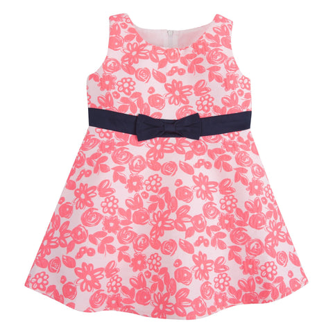 The Floral-escent: Neon Pink Party Dress