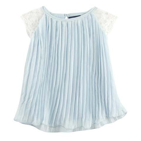 Chiff'on Trend: Angel Blue Chiffon Baby Doll Dress