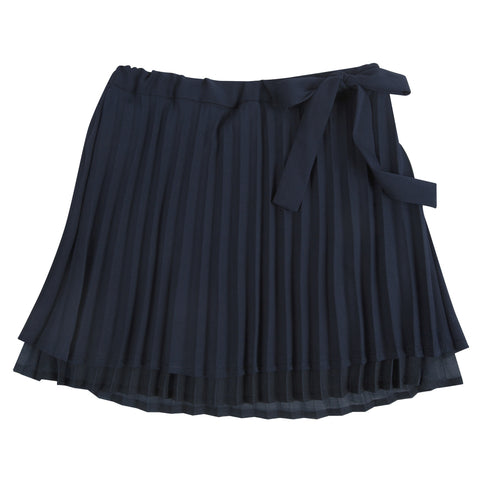 Sweet Pleat: Navy Chiffon Skirt