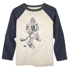 Big Foot Hockey Player T-Shirt