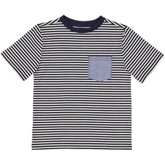 Navy Thin Stripe Pocket Tee