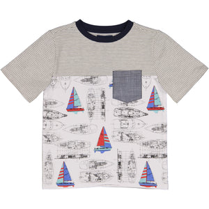 Vintage Sailboat Pocket Tee - Andy & Evan