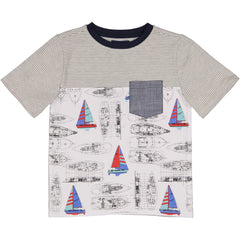 Vintage Sailboat Pocket Tee