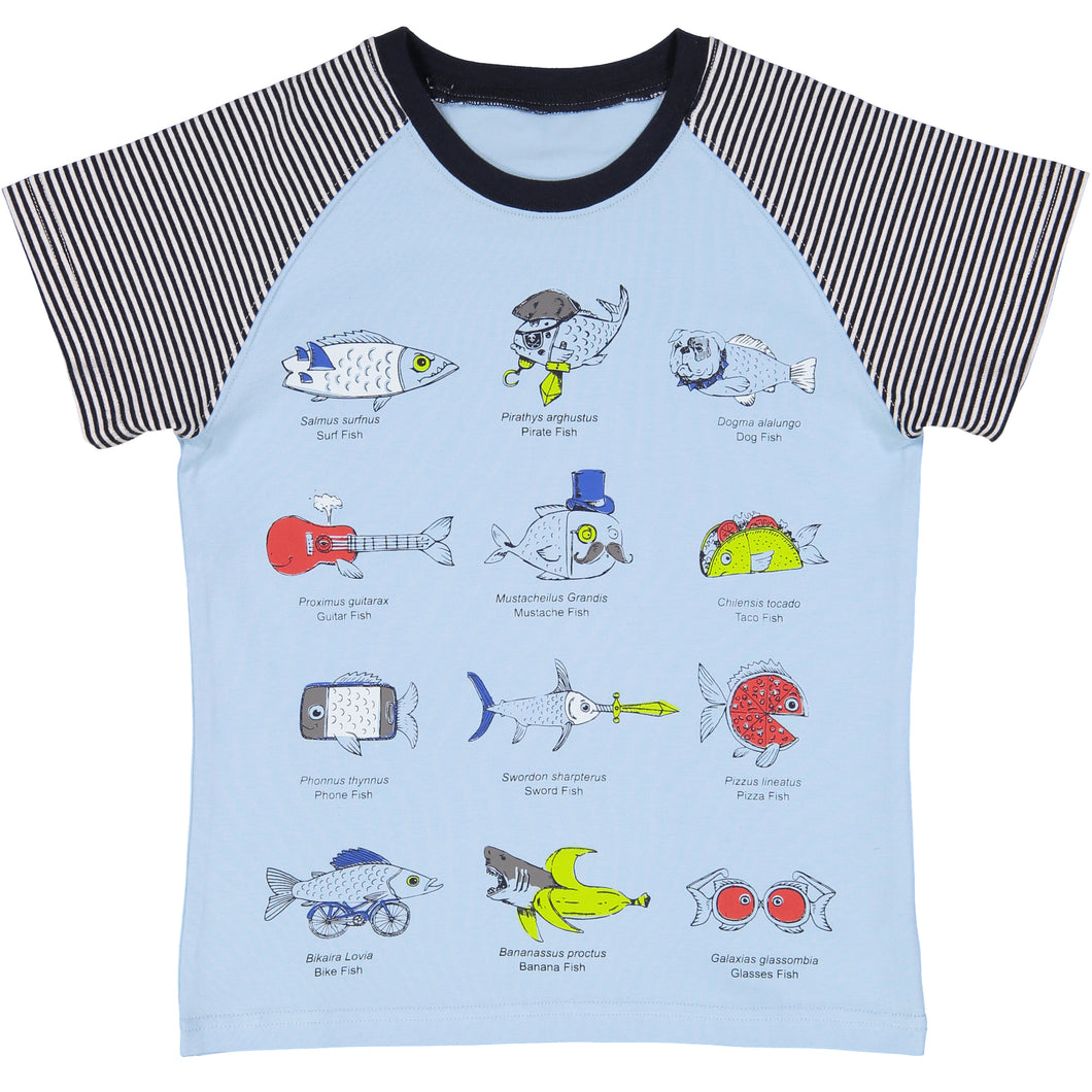 Blue Fish Items Tee - Andy & Evan