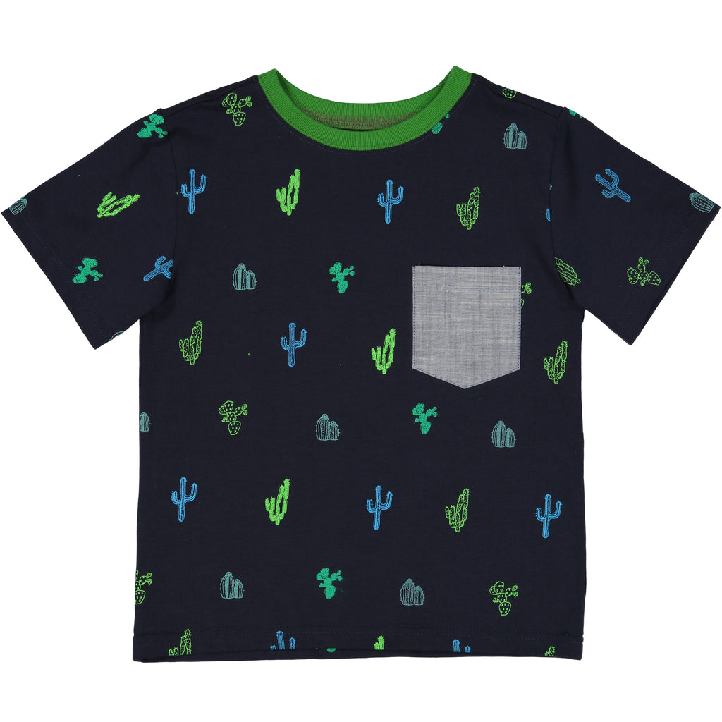 Cactus Print Pocket Tee - Andy & Evan