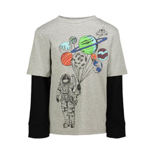 Load image into Gallery viewer, Grey Astronaut Twofer Tee - Andy & Evan