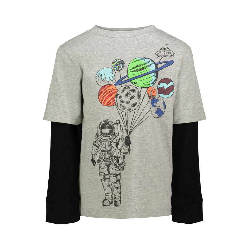Grey Astronaut Twofer Tee - Andy & Evan