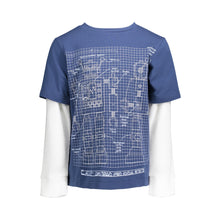 Load image into Gallery viewer, Blue Robot Twofer Tee - Andy & Evan