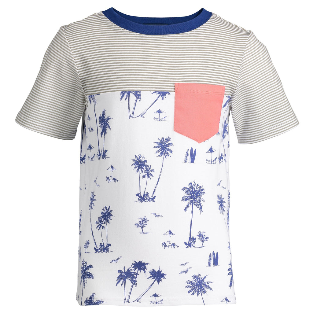 Stripe & Palms Colorblocked Tee - Andy & Evan