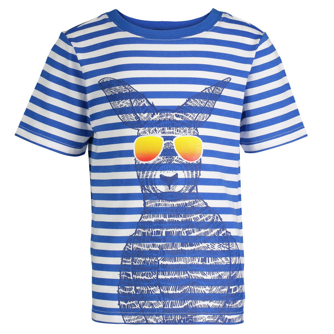 Striped Kangaroo Graphic Tee - Andy & Evan