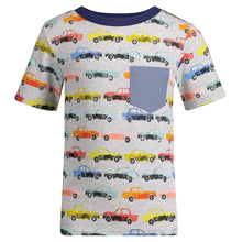 Load image into Gallery viewer, Multi-Colored Cars Graphic Tee - Andy & Evan