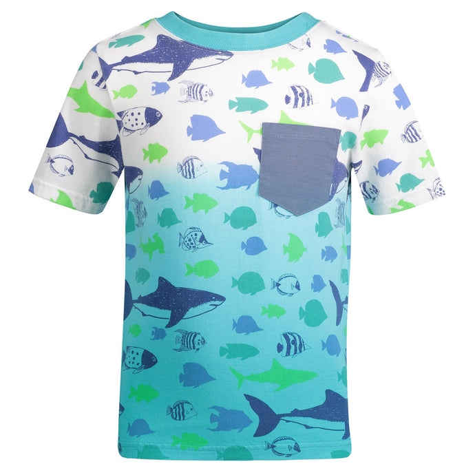Ombre Fish Print Pocket Tee - Andy & Evan
