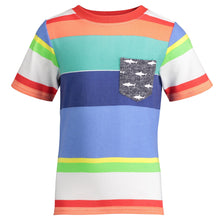 Load image into Gallery viewer, Bold Multi Stripe Pocket Tee - Andy & Evan