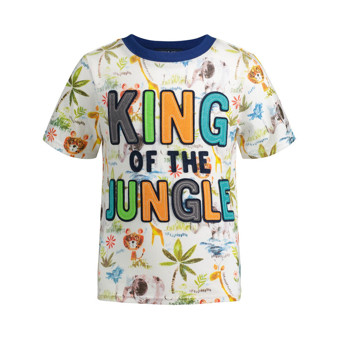 King of the Jungle with Applique Felt Letters Graphic Tee - Andy & Evan