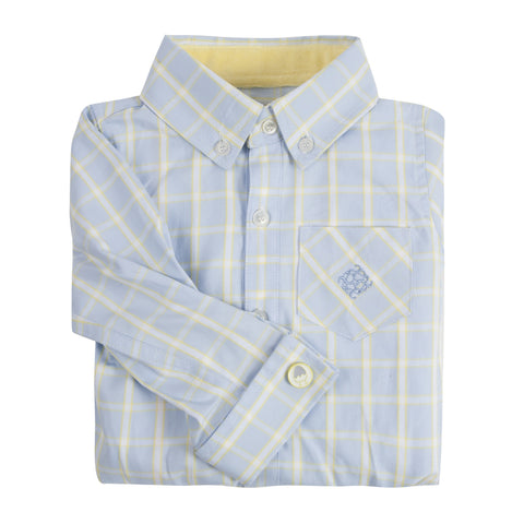 The Chick Magnet: Yellow & Blue Check Shirtzie/Shirt