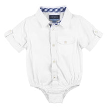 Load image into Gallery viewer, White Bamboo Short Sleeve Button-down Shirt - Andy & Evan