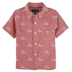 Sneaker Schiffli S/S Button-Down Shirt