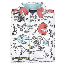Load image into Gallery viewer, Fish Print Short Sleeve Button-down Shirt - Andy & Evan