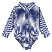 Load image into Gallery viewer, Blue Gingham Buttondown - Andy & Evan