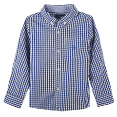 Blue Gingham Buttondown