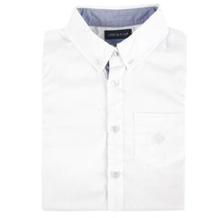 White Oxford Long Sleeve Button-down Shirt
