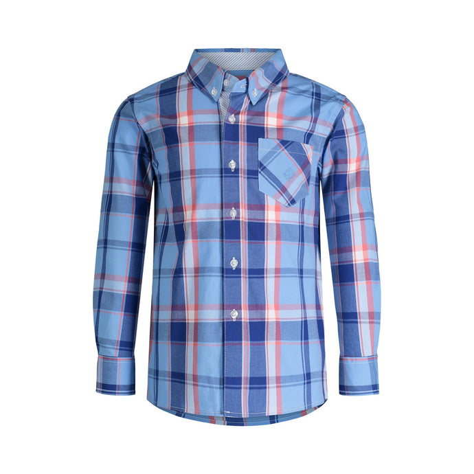 Blue & Pink Plaid Shirt - Andy & Evan