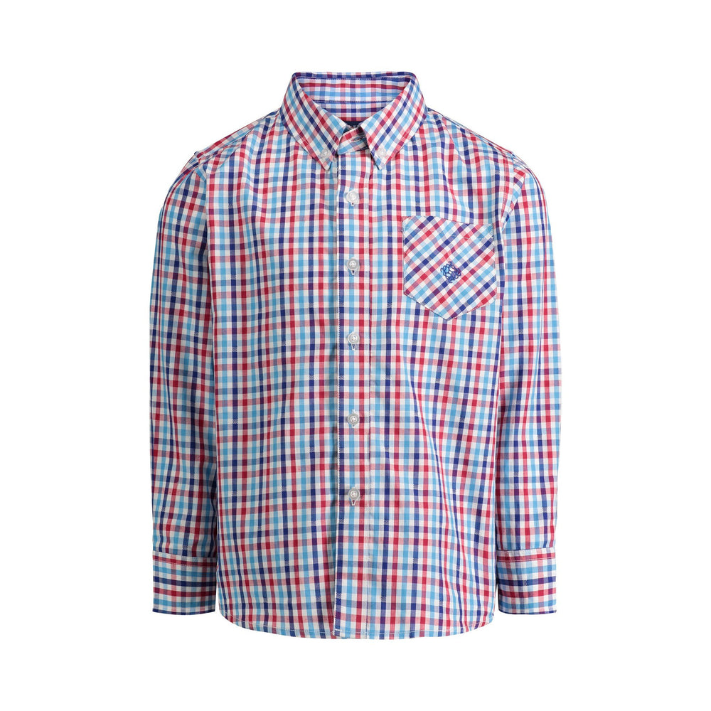 Red, Blue Check Shirt - Andy & Evan