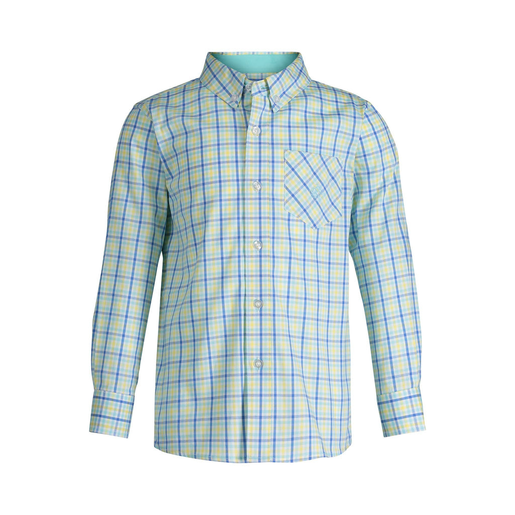 Yellow & Mint Checked Shirt - Andy & Evan
