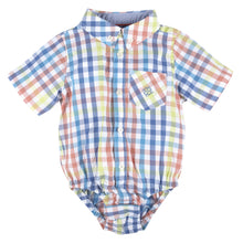 Load image into Gallery viewer, Multi Gingham Short Sleeve Button-down Shirt - Andy & Evan