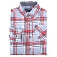 Load image into Gallery viewer, Light Blue Plaid Flannel Shirt - Andy & Evan