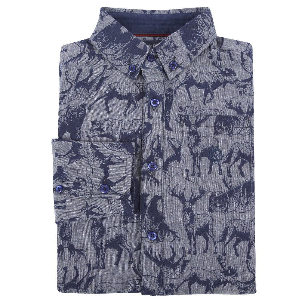 Animal Print Flannel Shirt - Andy & Evan