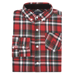 Red Holiday Flannel Shirt