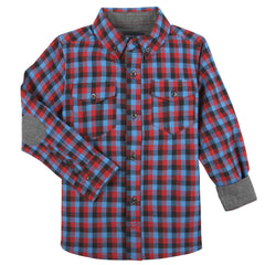Bright Red/Aqua/Black Check Shirt