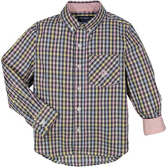Charcoal/Pastel Multi Gingham Shirt