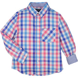 Large Pink/Blue Check Shirt