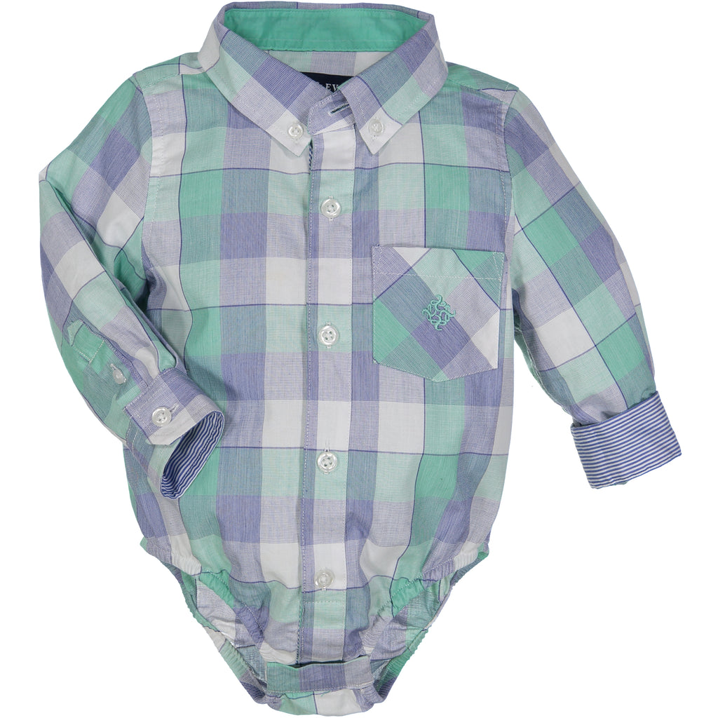 Large Green/ Blue Check Shirt - Andy & Evan