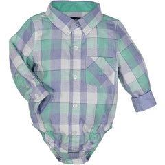 Large Green/ Blue Check Shirt