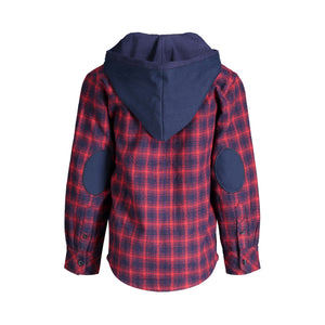 Maroon Hooded Flannel Buttondown - Andy & Evan