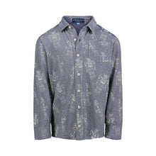 Load image into Gallery viewer, Navy Robot Knit Buttondown - Andy & Evan