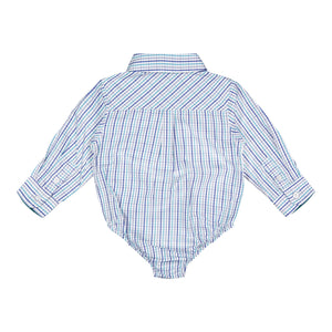 Teal Check Buttondown - Andy & Evan