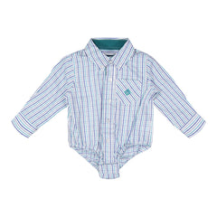 Teal Check Buttondown
