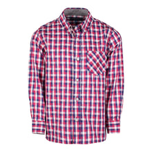 Load image into Gallery viewer, Red/Navy/White Check Buttondown - Andy & Evan