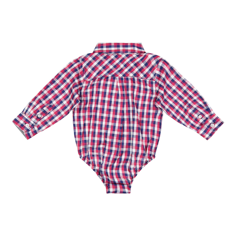 Red/Navy/White Check Buttondown - Andy & Evan