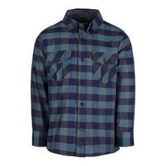 Green & Navy Buffalo Check