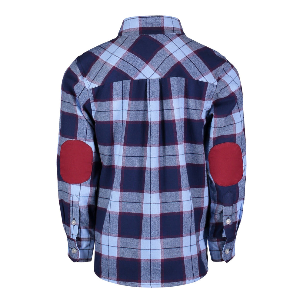 Blue & Maroon Plaid Flannel - Andy & Evan