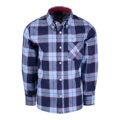 Blue & Maroon Plaid Flannel