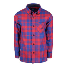 Load image into Gallery viewer, Blue & Red Plaid Flannel - Andy & Evan